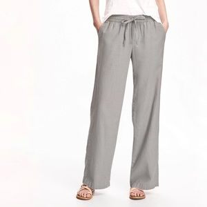 NWT 2 Pairs Old Navy Linen Mid-Rise Wide Leg Pants